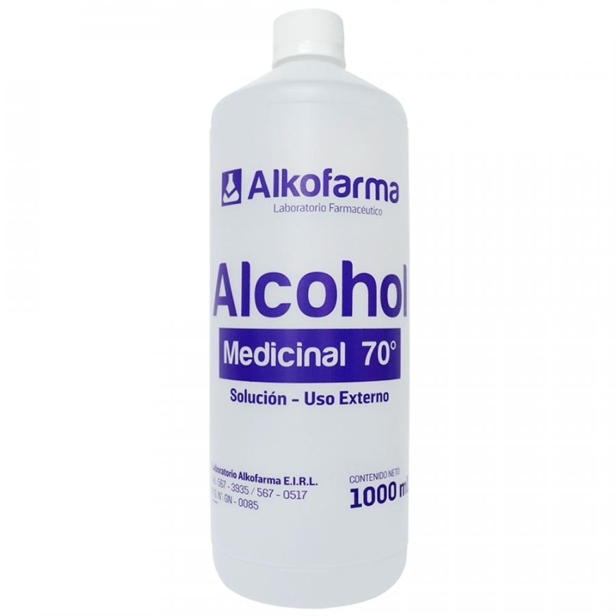 ALCOHOL DE 70° - 1LT X 12 UND