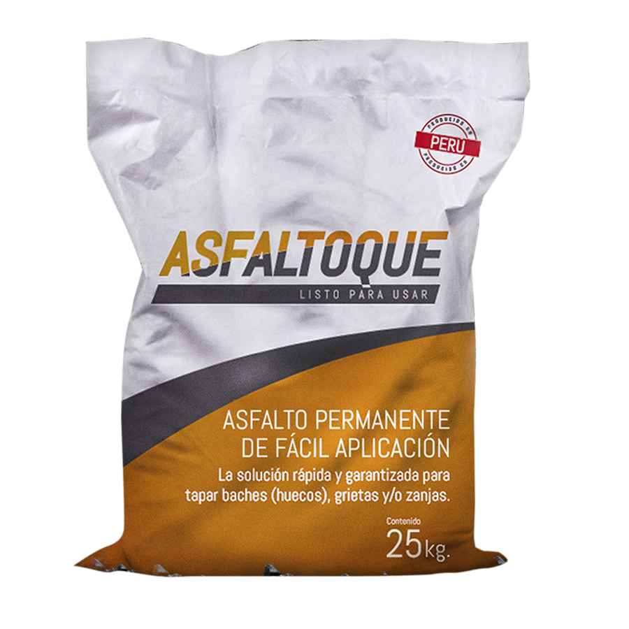 Asfalto Permanente de Fácil Aplicación en Frio - ASFALTOQUE - 25kg