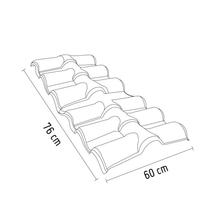 Cumbrera Tejaforte Polipropileno 1.10 mm x 0.76 m