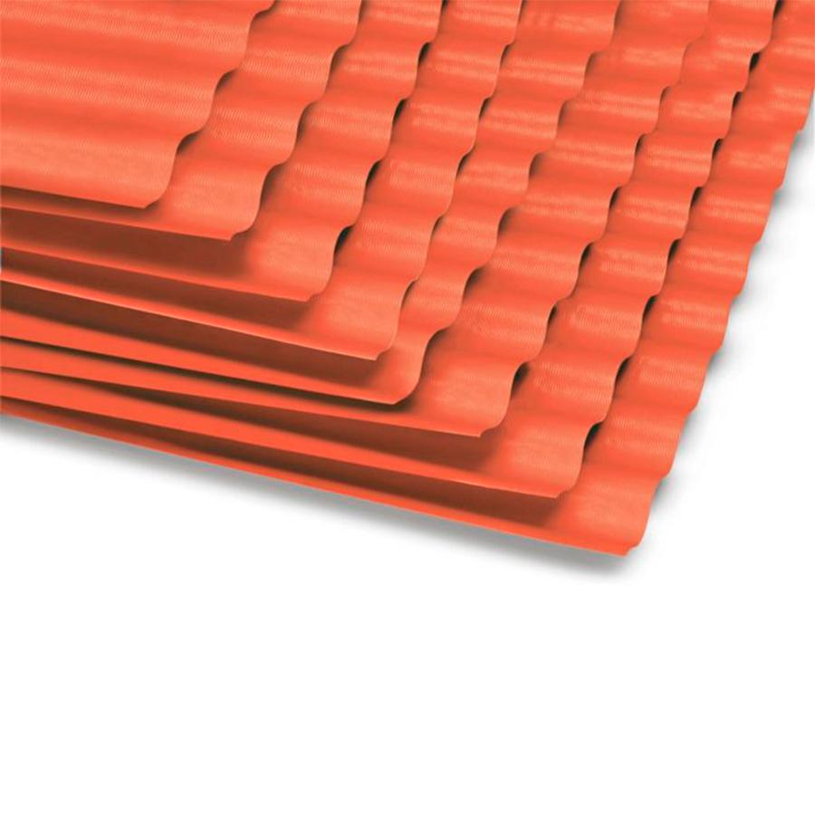 Techo de Polipropileno Rojo 1.2 mm 1.10 x 3.05 m