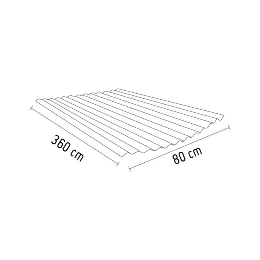 Calamina Metálica Galvanizada 0.22mm x 3.6m x 0.8m